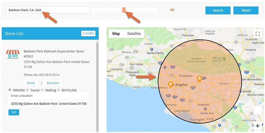 magento store location plugin