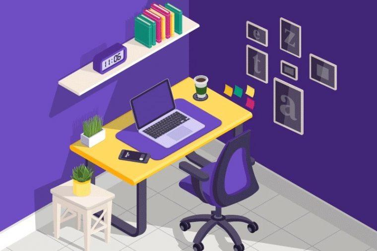 Ilustración de una oficina