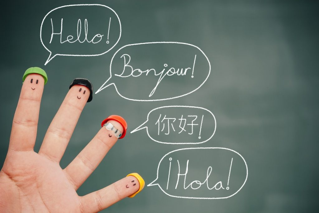 illustration of multi-language