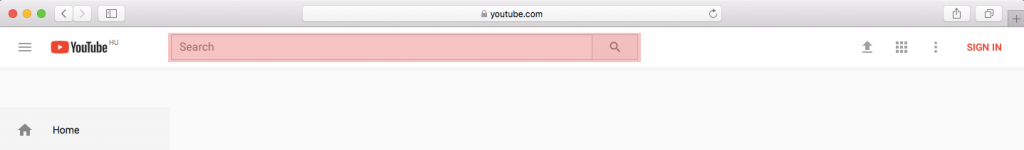 illustration of youtube searchbar