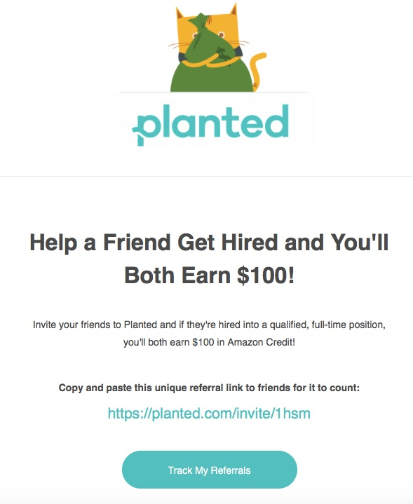 email referral example