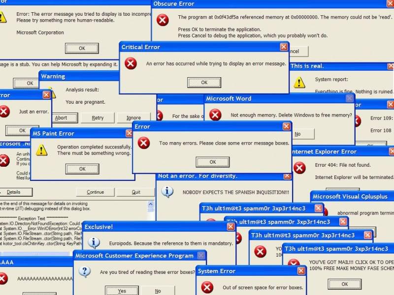 error of users