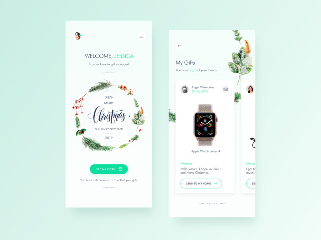 holiday wedesign for unique user experience