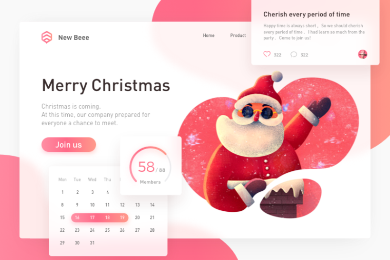 holiday web design