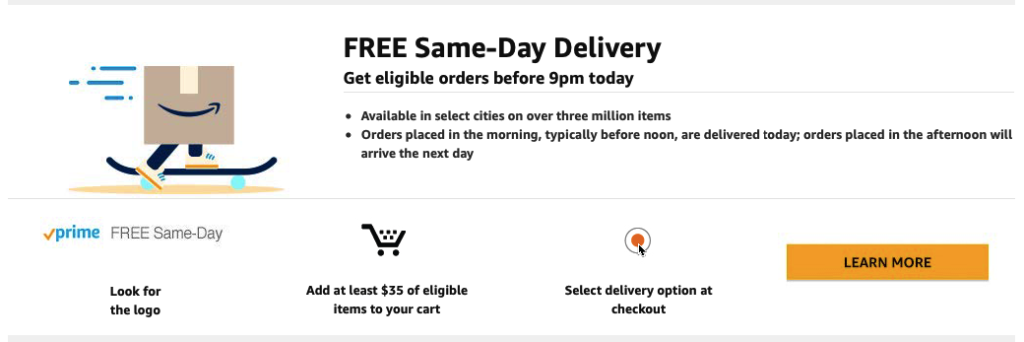 free and fast shipping in e-commerce